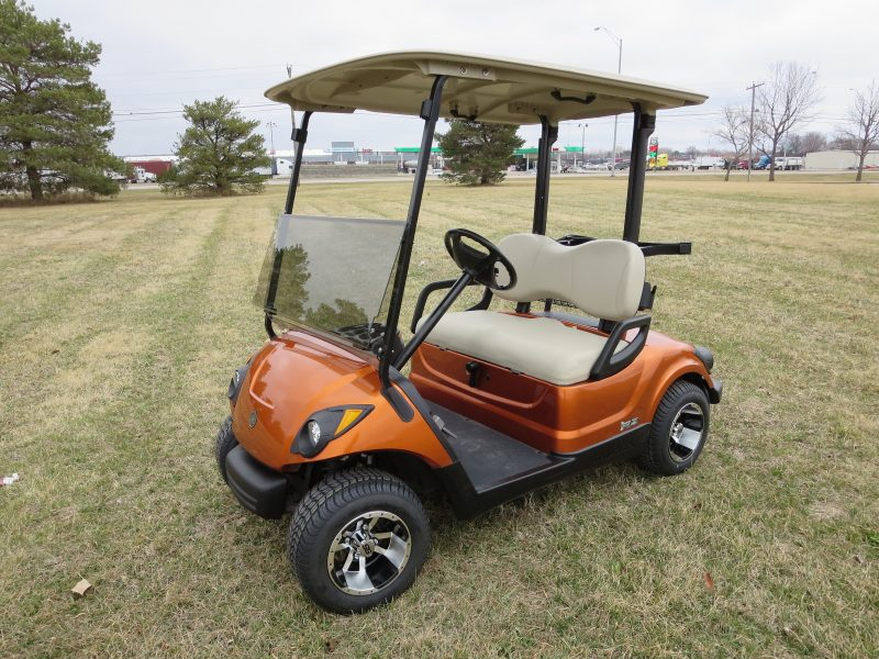 Burnt Orange Yamaha Fuel Injection Golf Cart