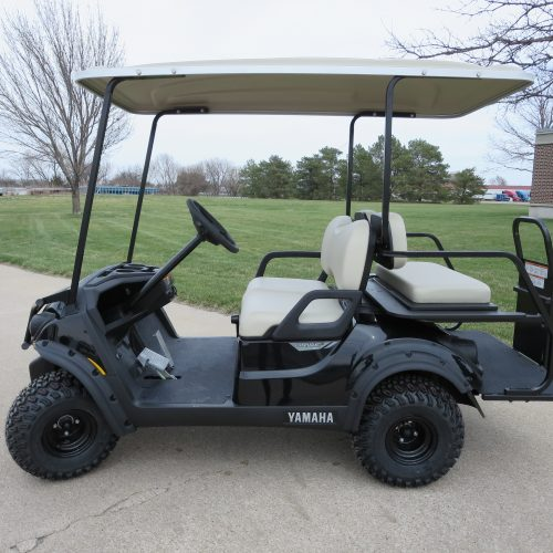 NEW 2018 Yamaha Adventure 2+2 Black Golf Cart