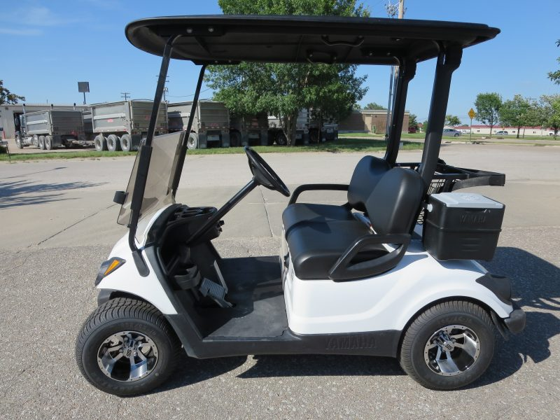 White Yamaha Golf Cart