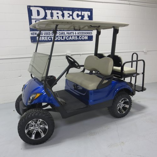 2014 Yamaha Drive Gas Golf Cart Cobalt Blue Metallic
