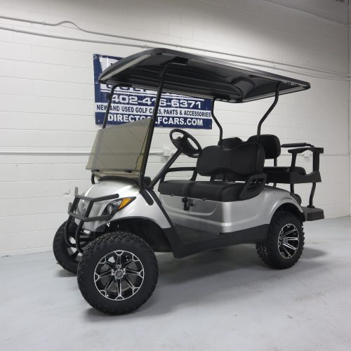 2015 Yamaha Drive Gas Golf Cart Moonstone Silver