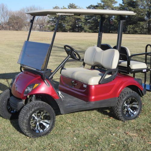 2011 Yamaha Drive Gas Golf Cart Jasper Red Metallic