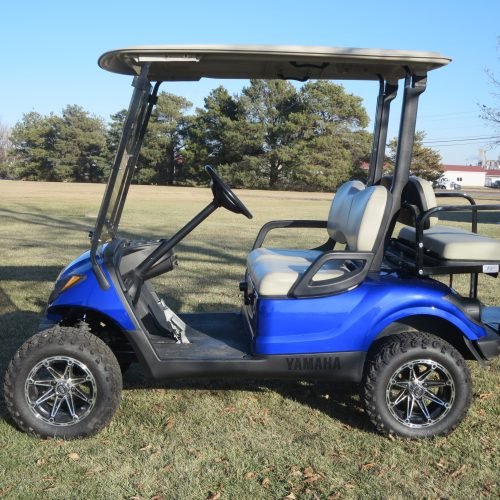 2011 Yamaha Drive Gas Golf Cart Cobalt Blue Metallic