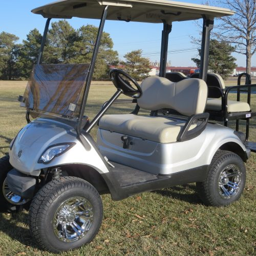 2015 Yamaha Drive Gas Golf Cart Moonstone Silver Metallic