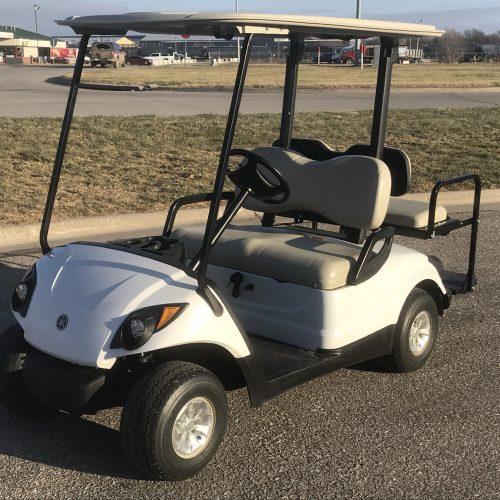 2014 Artic White Gas Yamaha Drive Golf Cart